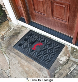"Fan Mats 11810  UC - University of Cincinnati Bearcats 19.5"" x 31.25"" Medallion Vinyl Door Mat"