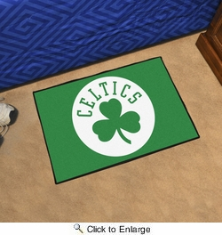 "Fan Mats 11900  NBA - Boston Celtics 19"" x 30"" Starter Series Area Rug / Mat"