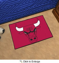 "Fan Mats 11902  NBA - Chicago Bulls 19"" x 30"" Starter Series Area Rug / Mat"