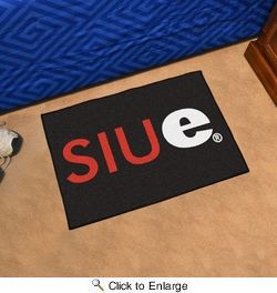 "Fan Mats 12143  SIUe - Southern Illinois University, Edwardsville Cougars 19"" x 30"" Starter Series Area Rug / Mat"