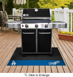 "Fan Mats 12158  MLB - Los Angeles Dodgers 26"" x 42"" Grill Mat"