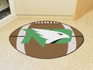 "Fan Mats 1216  UND - University of North Dakota Fighting Hawks 20.5"" x 32.5"" Football Shaped Area Rug"