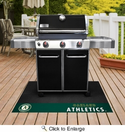 "Fan Mats 12163  MLB - Oakland Athletics 26"" x 42"" Grill Mat"