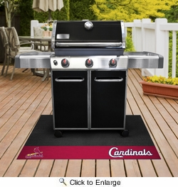 "Fan Mats 12169  MLB - St. Louis Cardinals 26"" x 42"" Grill Mat"