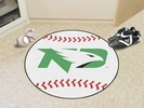 "Fan Mats 1217  UND - University of North Dakota Fighting Hawks 27"" Diameter Baseball Shaped Area Rug"