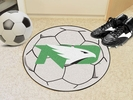 "Fan Mats 1218  UND - University of North Dakota Fighting Hawks 27"" Diameter Soccer Ball Shaped Area Rug"