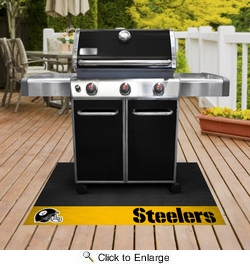 "Fan Mats 12198  NFL - Pittsburgh Steelers 26"" x 42"" Grill Mat"