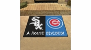 "Fan Mats 12247  MLB - Chicago White Sox vs Chicago Cubs 33.75"" x 42.5"" House Divided Area Rug / Mat"