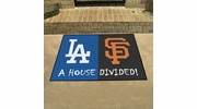 "Fan Mats 12249  MLB - Los Angeles Dodgers vs San Francisco Giants 33.75"" x 42.5"" House Divided Area Rug / Mat"