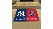 "Fan Mats 12252  MLB - New York Yankees vs Boston Red Sox 33.75"" x 42.5"" House Divided Area Rug / Mat"