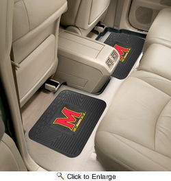 "Fan Mats 12286  University of Maryland Terrapins 14"" x 17"" Utility Mats 2 per Package"