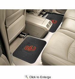 "Fan Mats 12297  University of Southern California Trojans 14"" x 17"" Utility Mats 2 per Package"
