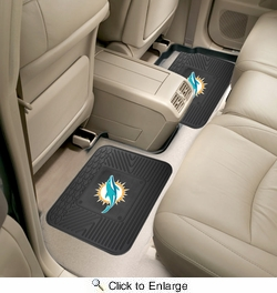 """Fan Mats 12314  NFL - Miami Dolphins 14"""" x 17"""" Utility Mats 2 per Package"""