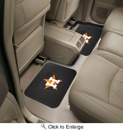 "Fan Mats 12334  MLB - Houston Astros 14"" x 17"" Utility Mats 2 per Package"