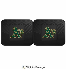 "Fan Mats 12339  MLB - Oakland Athletics 14"" x 17"" Utility Mats 2 per Package"