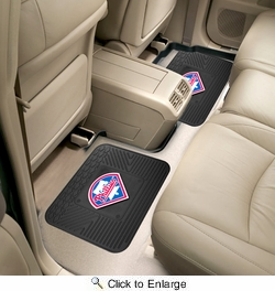"Fan Mats 12340  MLB - Philadelphia Phillies 14"" x 17"" Utility Mats 2 per Package"
