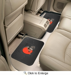 "Fan Mats 12354  NFL - Cleveland Browns 14"" x 17"" Utility Mats 2 per Package"