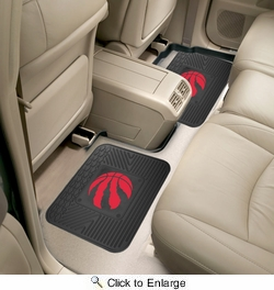"Fan Mats 12390  NBA - Toronto Raptors 14"" x 17"" Utility Mats 2 per Package"