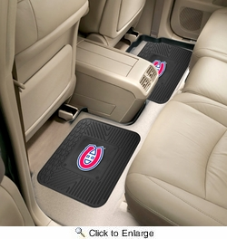 "Fan Mats 12398  NHL - Montreal Canadiens 14"" x 17"" Utility Mats 2 per Package"