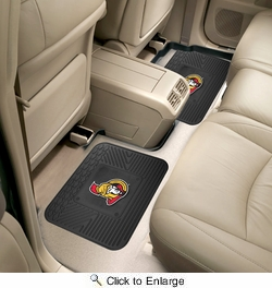 "Fan Mats 12400  NHL - Ottawa Senators 14"" x 17"" Utility Mats 2 per Package"