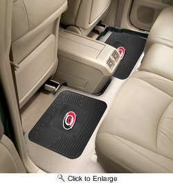 "Fan Mats 12410  NHL - Carolina Hurricanes 14"" x 17"" Utility Mats 2 per Package"