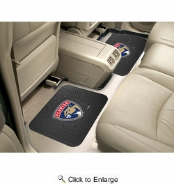 "Fan Mats 12411  NHL - Florida Panthers 14"" x 17"" Utility Mats 2 per Package"