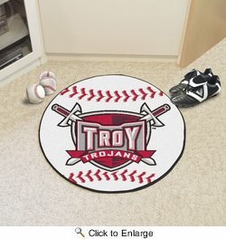 "Fan Mats 1253  Troy University Trojans 27"" Diameter Baseball Shaped Area Rug"