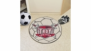 "Fan Mats 1254  Troy University Trojans 27"" Diameter Soccer Ball Shaped Area Rug"
