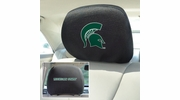"""Fan Mats 12583  Michigan State University Spartans 10"""" x 13"""" Head Rest Covers"""