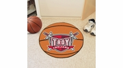 "Fan Mats 1259  Troy University Trojans 27"" Diameter Basketball Shaped Area Rug"