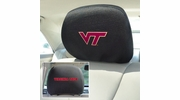 "Fan Mats 12602  Virginia Tech Hokies 10"" x 13"" Head Rest Covers"