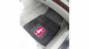 "Fan Mats 12656  Stanford University Cardinal 17"" x 27"" Heavy Duty Vinyl Car Mat Set"