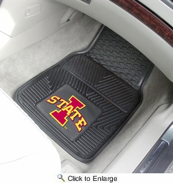 "Fan Mats 12757  ISU - Iowa State University Cyclones 17"" x 27"" Heavy Duty Vinyl Car Mat Set"