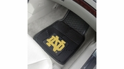 "Fan Mats 13253  University of Notre Dame Fighting Irish 17"" x 27"" 2-pc Vinyl Car Mat Set"