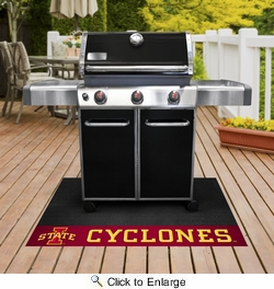"Fan Mats 13321  Iowa State University Cyclones 26"" x 42"" Grill Mat"