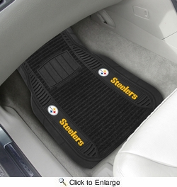 "Fan Mats 13786  NFL - Pittsburgh Steelers 21"" x 27"" Deluxe Car Mat Set"