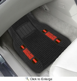 "Fan Mats 13800  NFL - Cleveland Browns 21"" x 27"" Deluxe Car Mat Set"