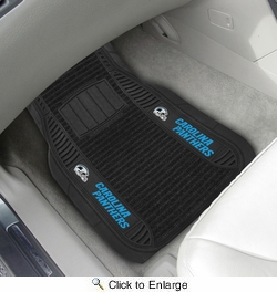 "Fan Mats 13801  NFL - Carolina Panthers 21"" x 27"" Deluxe Car Mat Set"