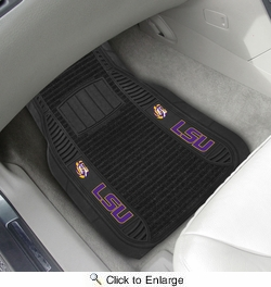 "Fan Mats 13805  Louisiana State University Tigers 21"" x 27"" Deluxe Car Mat Set"