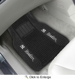 "Fan Mats 13830  MLB - New York Yankees 21"" x 27"" Deluxe Car Mat Set"