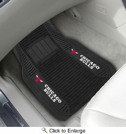 "Fan Mats 13842  NBA - Chicago Bulls 21"" x 27"" Deluxe Car Mat Set"