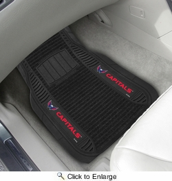 "Fan Mats 13859  NHL - Washington Capitals 21"" x 27"" Deluxe Car Mat Set"