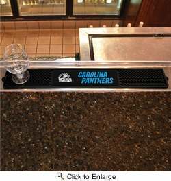 "Fan Mats 13980  NFL - Carolina Panthers 3.25"" x 24"" Drink Mat"