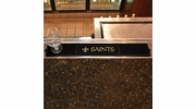 "Fan Mats 13992  NFL - New Orleans Saints 3.25"" x 24"" Drink Mat"