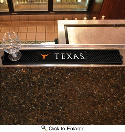 "Fan Mats 14010  University of Texas Longhorns 3.25"" x 24"" Drink Mat"