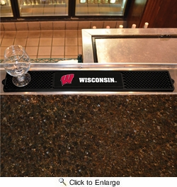 "Fan Mats 14027  University of Wisconsin Badgers 3.25"" x 24"" Drink Mat"