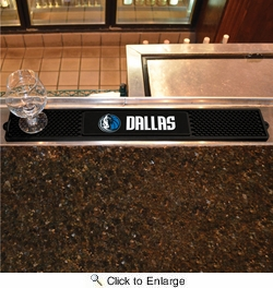 "Fan Mats 14052  NBA - Dallas Mavericks 3.25"" x 24"" Drink Mat"