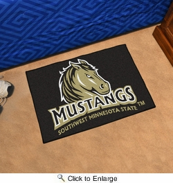 "Fan Mats 14078  Southwest Minnesota State University Mustangs 19"" x 30"" Starter Mat"