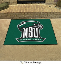 "Fan Mats 14112  Northeastern State University River Hawks 33.75"" x 42.5"" All Star Mat"