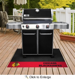 "Fan Mats 14230  NHL - Chicago Blackhawks 26"" x 42"" Grill Mat"
